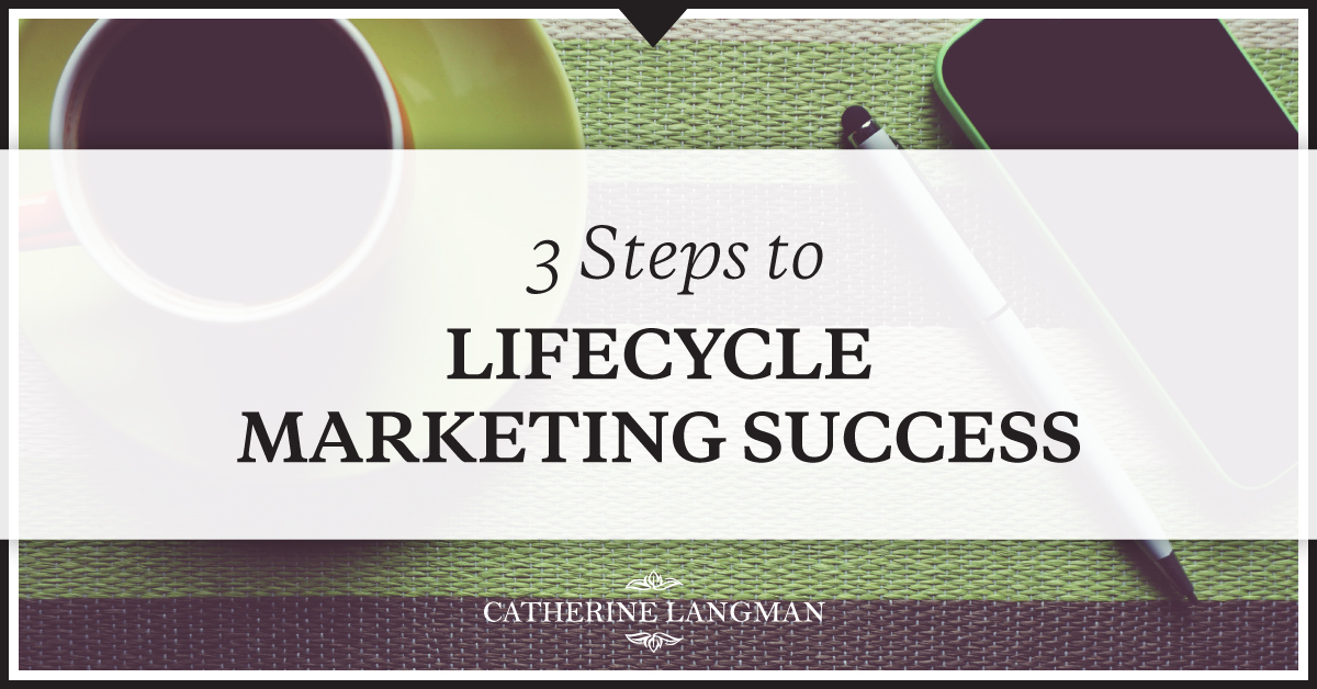 3 steps to lifecycle marketing success