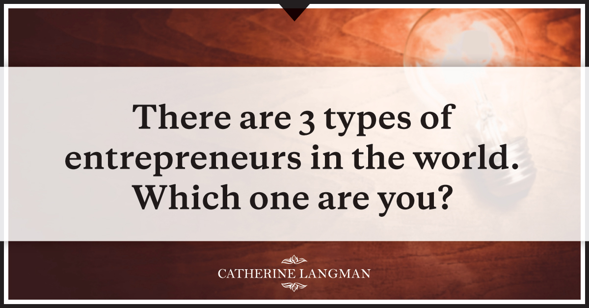 There are 3 kinds of entrepreneur in the world. Which one are you?