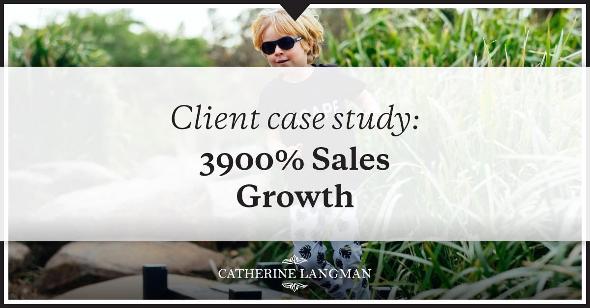 client case study 3900% sales growth