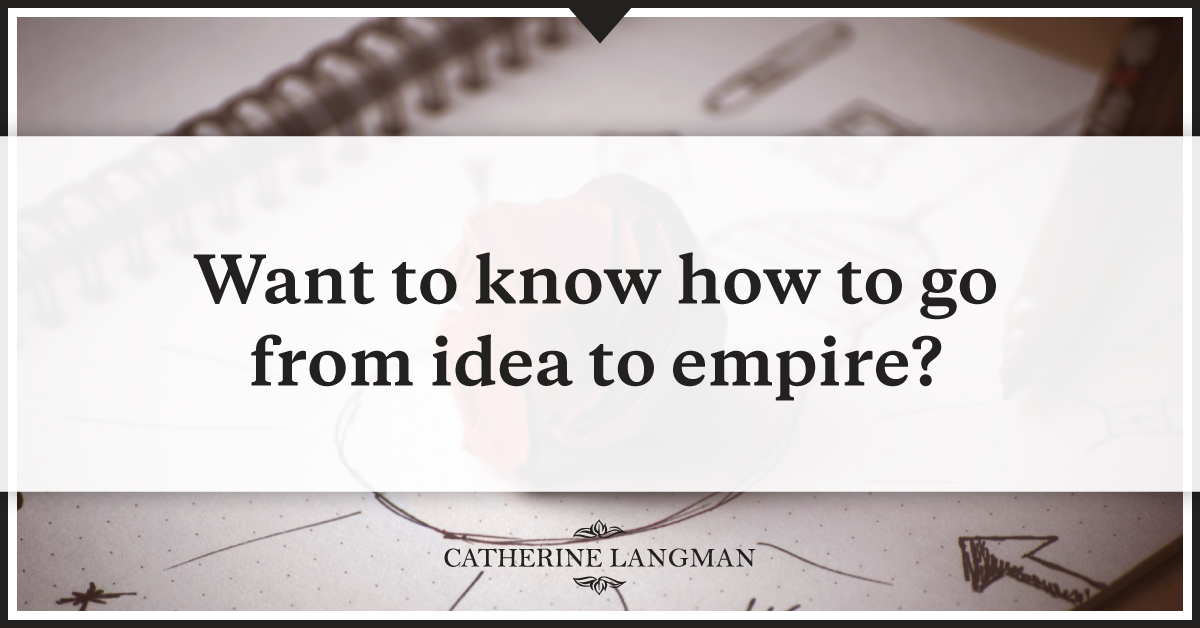 How to go from product idea to lucrative business empire