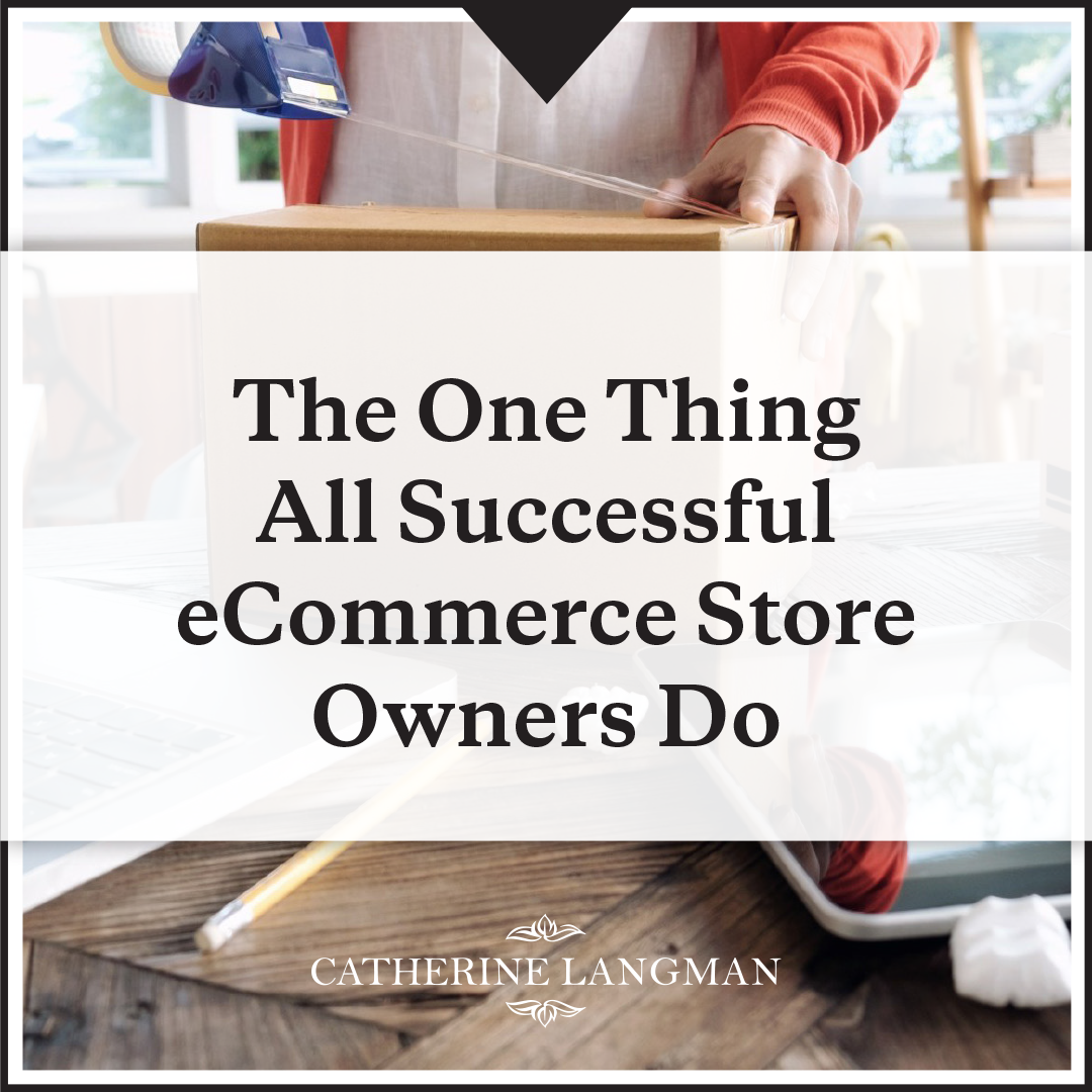 The One Thing All Successful eCommerce Business Owners Do