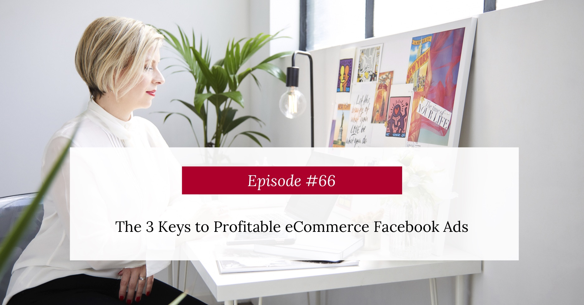Podcast Episode Title The 3 Keys to Profitable eCommerce Facebook Ads